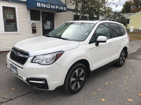 2018 Subaru Forester for sale at Snowfire Auto in Waterbury VT
