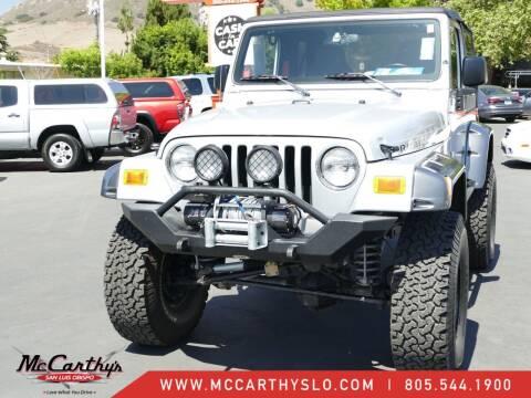 2003 Jeep Wrangler for sale at McCarthy Wholesale in San Luis Obispo CA