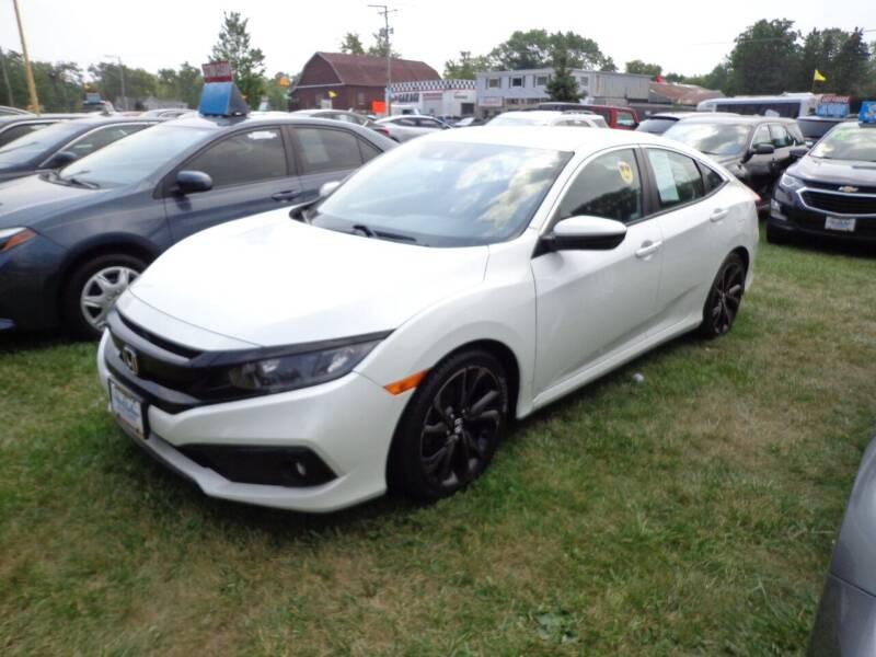 2019 Honda Civic for sale at North American Credit Inc. in Waukegan IL