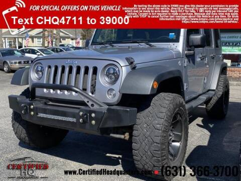 2014 Jeep Wrangler Unlimited for sale at CERTIFIED HEADQUARTERS in St James NY