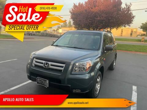 2006 Honda Pilot for sale at APOLLO AUTO SALES in Sacramento CA