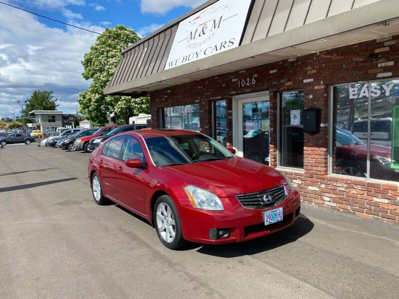 2008 Nissan Maxima for sale at M&M Auto Sales in Portland OR