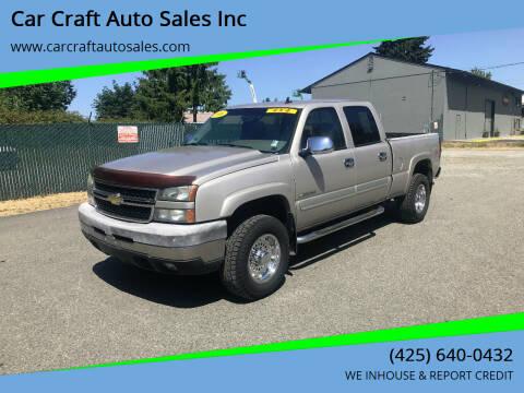 2006 Chevrolet Silverado 2500HD for sale at Car Craft Auto Sales Inc in Lynnwood WA