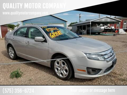 2010 Ford Fusion for sale at QUALITY MOTOR COMPANY in Portales NM