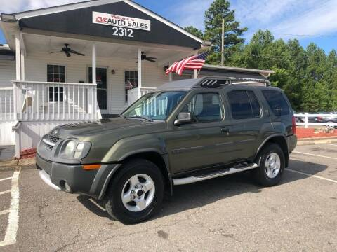 2003 Nissan Xterra for sale at CVC AUTO SALES in Durham NC