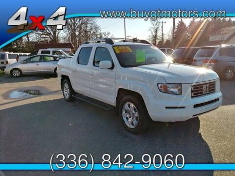 2008 Honda Ridgeline for sale at GT Motors, LLC in Elkin NC
