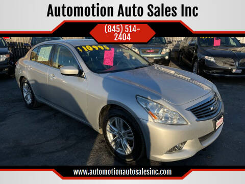2012 Infiniti G37 Sedan for sale at Automotion Auto Sales Inc in Kingston NY