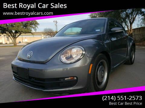 2012 Volkswagen Beetle for sale at Best Royal Car Sales in Dallas TX
