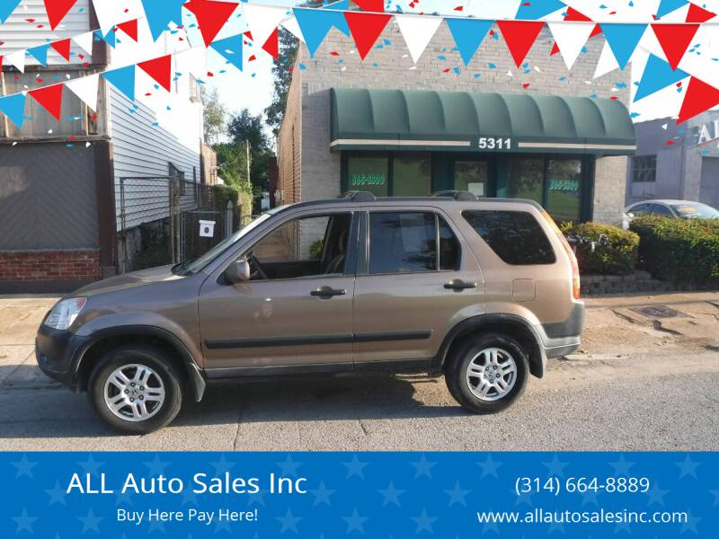 2002 Honda CR-V for sale at ALL Auto Sales Inc in Saint Louis MO