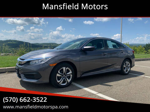 2018 Honda Civic for sale at Mansfield Motors in Mansfield PA