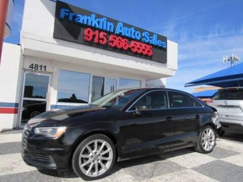 2015 Audi A3 for sale at Franklin Auto Sales in El Paso TX