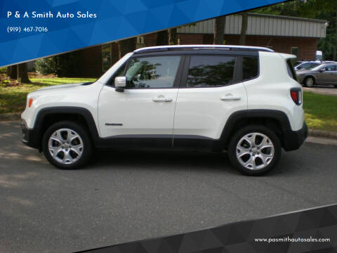 2016 Jeep Renegade for sale at P & A Smith Auto Sales in Cary NC