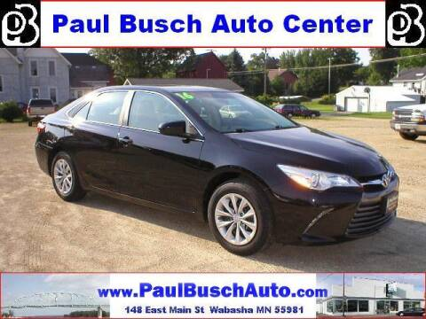 2016 Toyota Camry for sale at Paul Busch Auto Center Inc in Wabasha MN