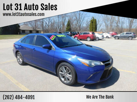 2015 Toyota Camry for sale at Lot 31 Auto Sales in Kenosha WI
