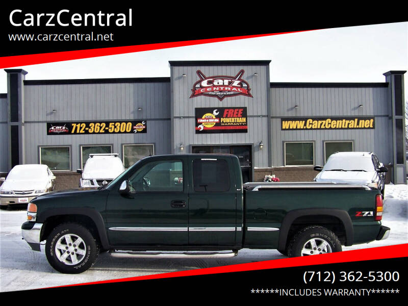 2001 GMC Sierra 1500 for sale at CarzCentral in Estherville IA