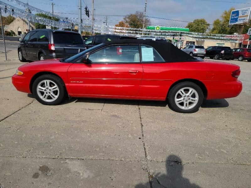 1997 Chrysler Sebring for sale at Bob Boruff Auto Sales in Kokomo IN