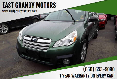 2014 Subaru Outback for sale at EAST GRANBY MOTORS in East Granby CT