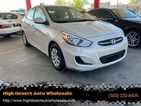 2016 Hyundai Accent for sale at High Desert Auto Wholesale in Albuquerque NM