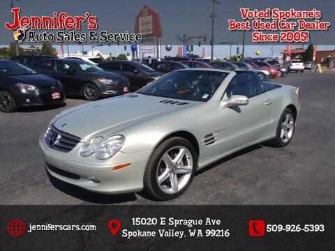 2003 Mercedes-Benz SL-Class for sale at Jennifer's Auto Sales in Spokane Valley WA