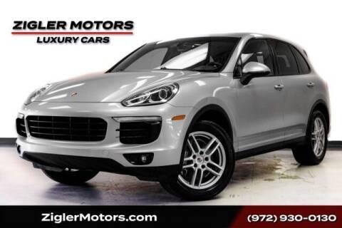 2016 Porsche Cayenne for sale at Zigler Motors in Addison TX