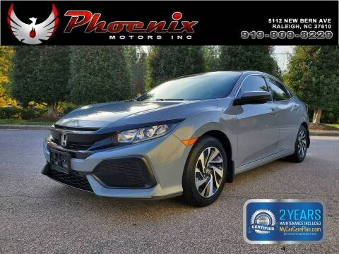 2017 Honda Civic for sale at Phoenix Motors Inc in Raleigh NC