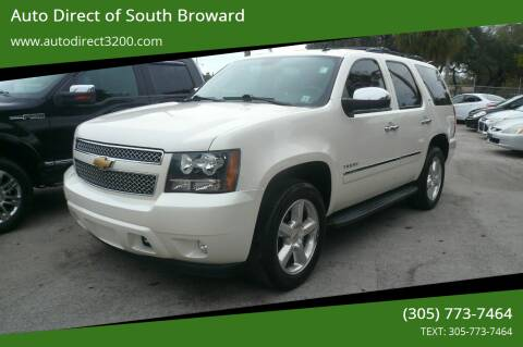 2013 Chevrolet Tahoe for sale at Auto Direct of South Broward in Miramar FL