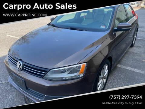 2014 Volkswagen Jetta for sale at Carpro Auto Sales in Chesapeake VA