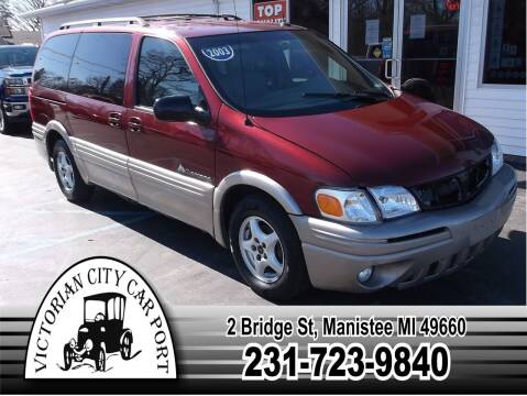 2003 Pontiac Montana for sale at Victorian City Car Port INC in Manistee MI
