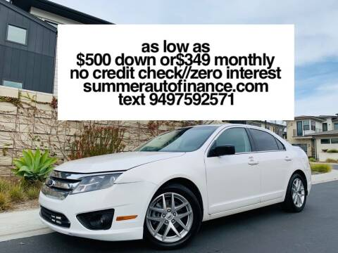 2012 Ford Fusion for sale at SUMMER AUTO FINANCE in Costa Mesa CA