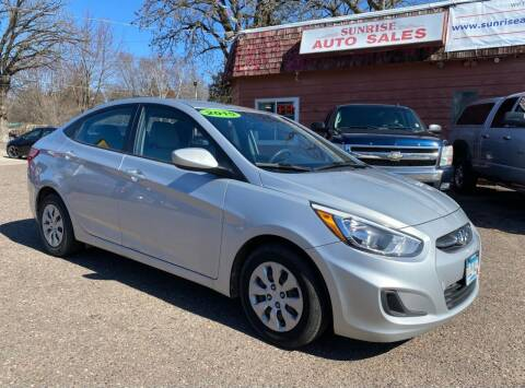 2015 Hyundai Accent for sale at Sunrise Auto Sales in Stacy MN