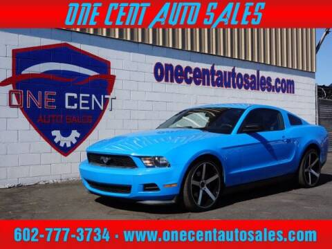 2012 Ford Mustang for sale at One Cent Auto Sales in Glendale AZ