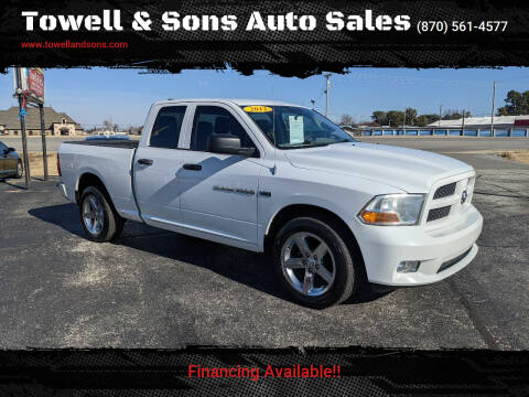 2012 RAM Ram Pickup 1500 for sale at Towell & Sons Auto Sales in Manila AR