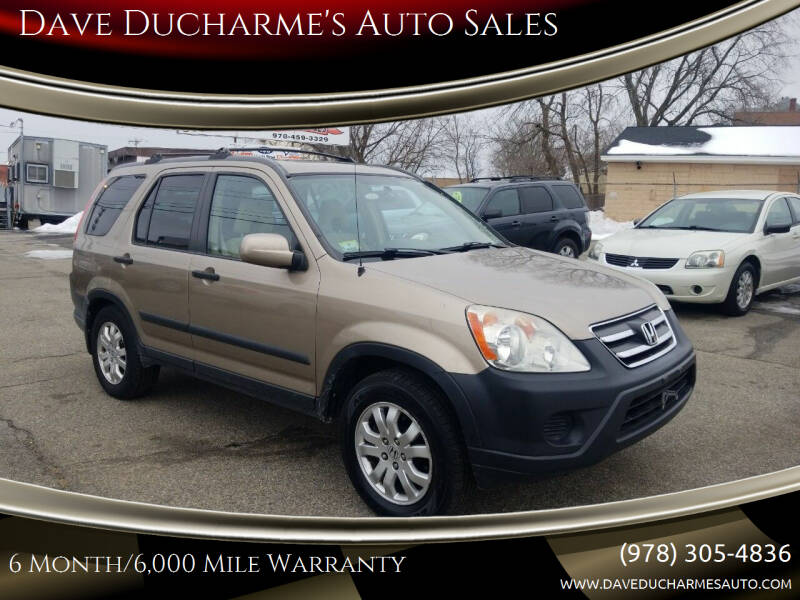 2005 Honda CR-V for sale at Dave Ducharme's Auto Sales in Lowell MA