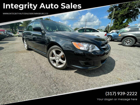 2009 Subaru Legacy for sale at Integrity Auto Sales in Brownsburg IN