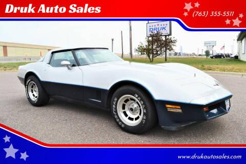 1981 Chevrolet Corvette for sale at Druk Auto Sales in Ramsey MN