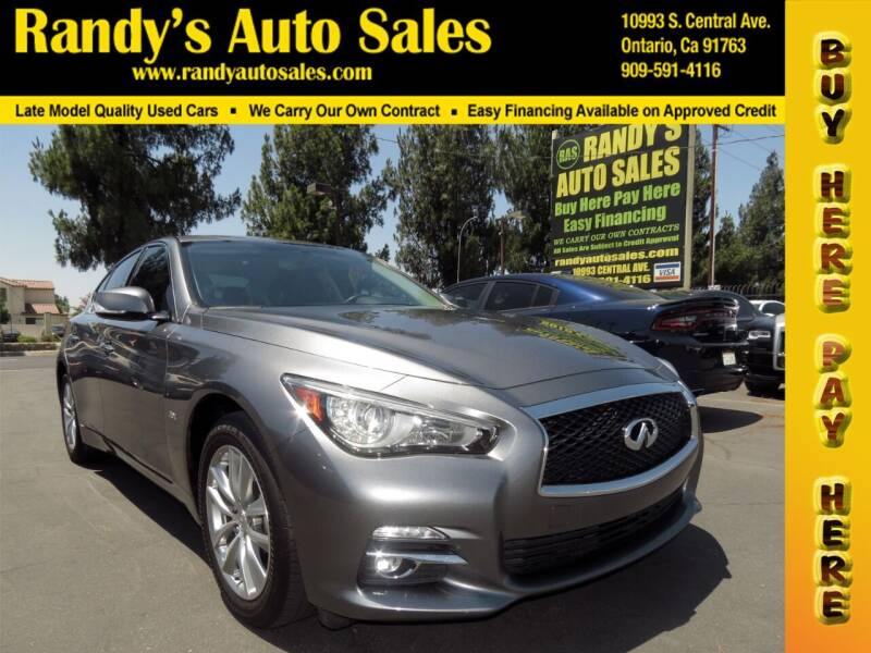 2017 Infiniti Q50 for sale at Randy's Auto Sales in Ontario CA