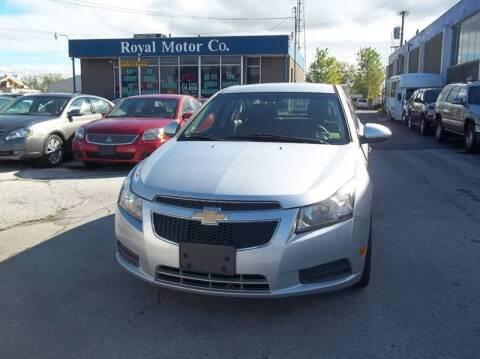 2012 Chevrolet Cruze for sale at Royal Motors - 33 S. Byrne Rd Lot in Toledo OH