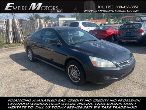 2006 Honda Accord for sale at Empire Motors LTD in Cleveland OH