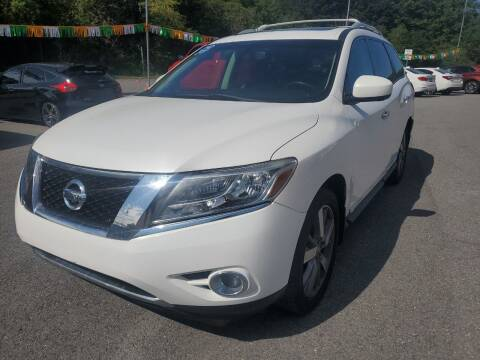 2013 Nissan Pathfinder for sale at Mulligan's Auto Exchange LLC in Paxinos PA