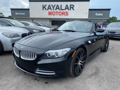 2009 BMW Z4 for sale at KAYALAR MOTORS in Houston TX