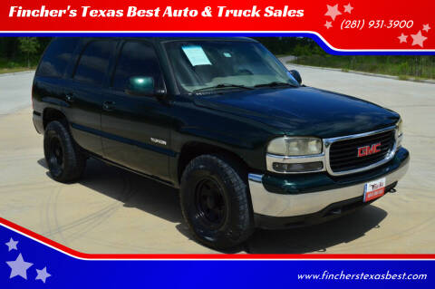 2001 GMC Yukon for sale at Fincher's Texas Best Auto & Truck Sales in Tomball TX