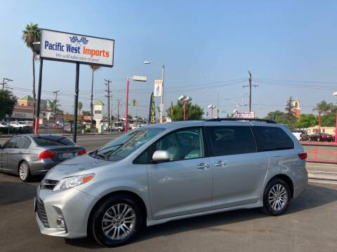 2020 Toyota Sienna for sale at Pacific West Imports in Los Angeles CA