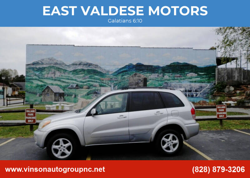 2002 Toyota RAV4 for sale at EAST VALDESE MOTORS / VINSON AUTO GROUP in Valdese NC