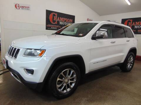 2014 Jeep Grand Cherokee for sale at Champion Motors in Amherst NH