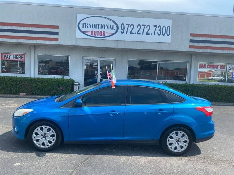 2012 Ford Focus for sale at Traditional Autos in Dallas TX