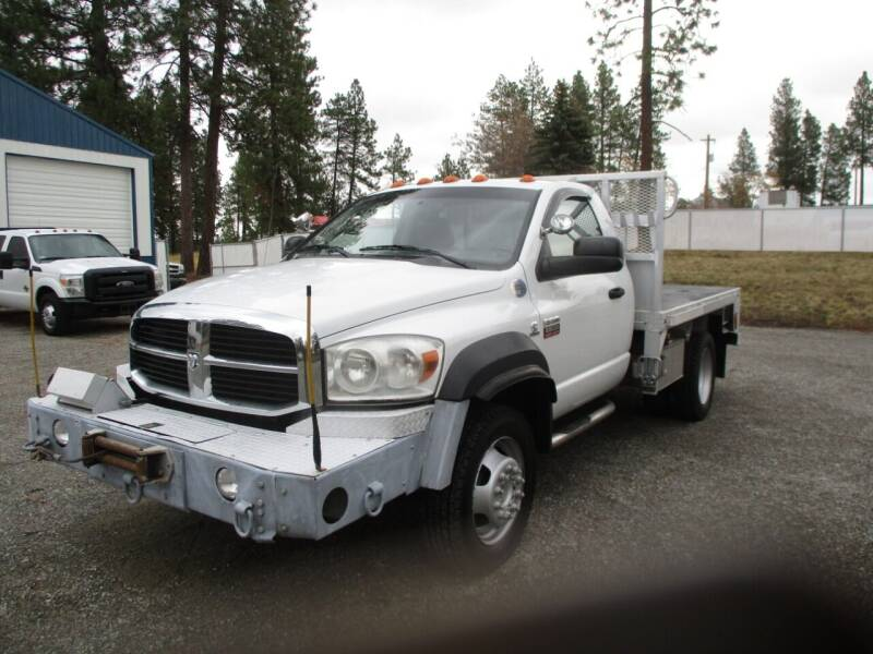 2009 Dodge RAM 5500 FLATBED 4X4 for sale at BJ'S COMMERCIAL TRUCKS in Spokane Valley WA