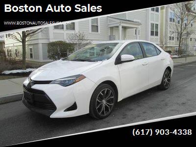 2018 Toyota Corolla for sale at Boston Auto Sales in Brighton MA