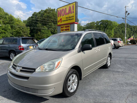 2004 Toyota Sienna for sale at No Full Coverage Auto Sales in Austell GA