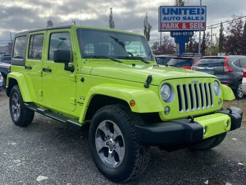 2017 Jeep Wrangler Unlimited for sale at United Auto Sales in Anchorage AK