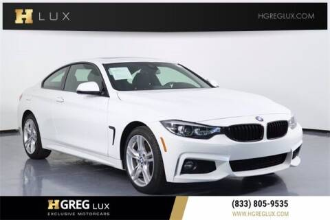 2020 BMW 4 Series for sale at HGREG LUX EXCLUSIVE MOTORCARS in Pompano Beach FL